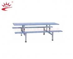 不锈钢十人座餐桌
